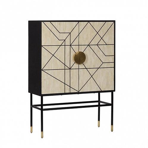 Manhattan Bone Inlay Cabinet