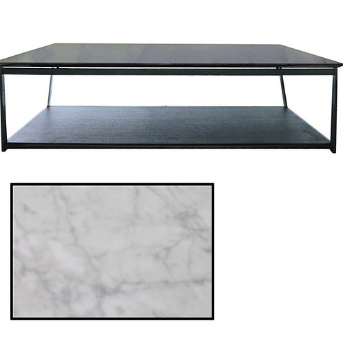 Milford Coffee Table – Black/White Marble Top