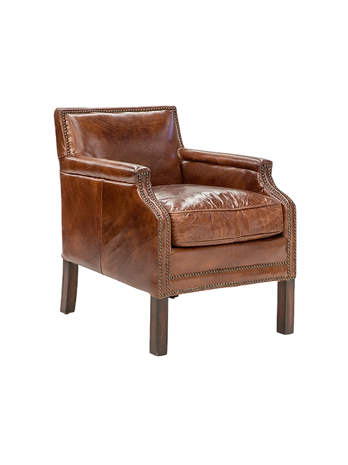 Leather Parlour Chair
