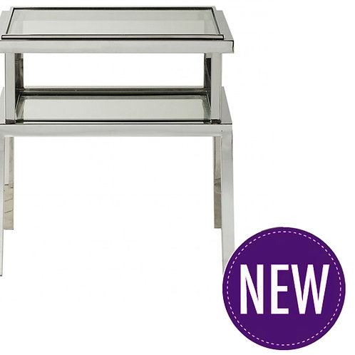 Manto Silver Side Table