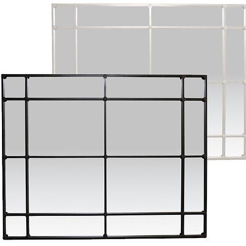 Large 16 Pane Mirror 2m – Black or White