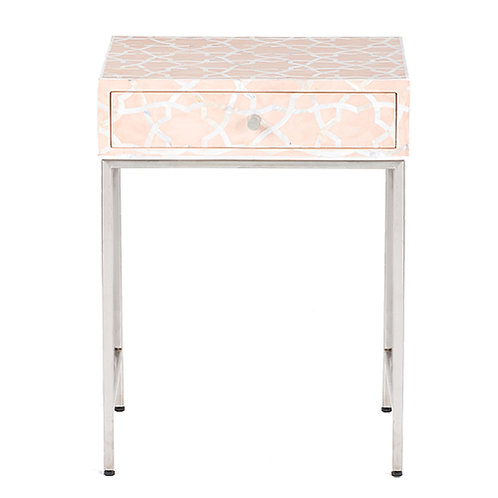 Pale Pink Mother of Pearl Side Table