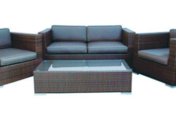 4 piece Resin Lounge Setting