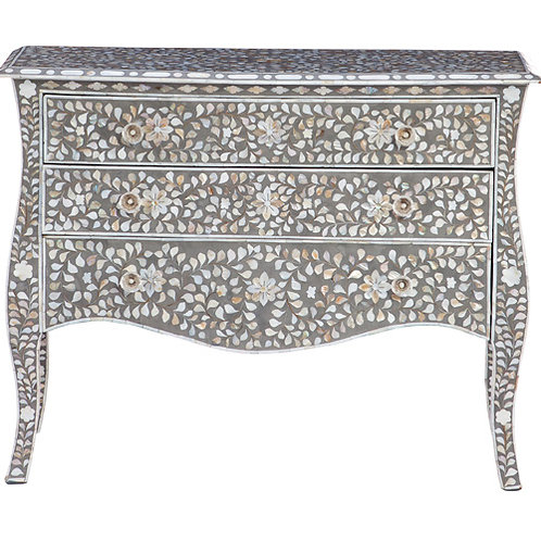 Mother of Pearl Floral Chest