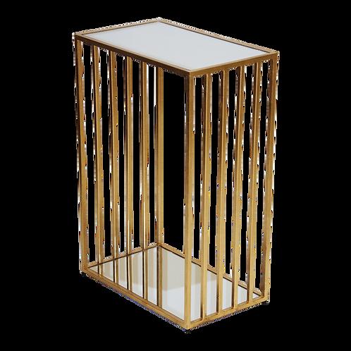 Manton Side Table - Gold or Silver Leaf