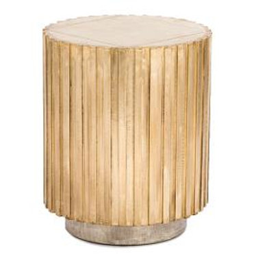 Corrugated Brass Lamp Table