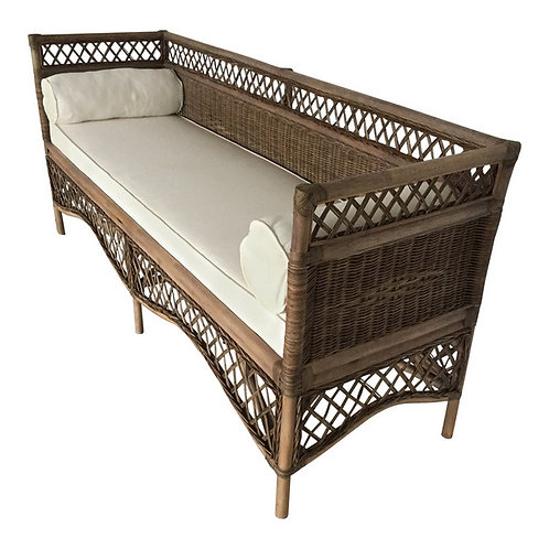 Rolled Cushion Rattan Daybed