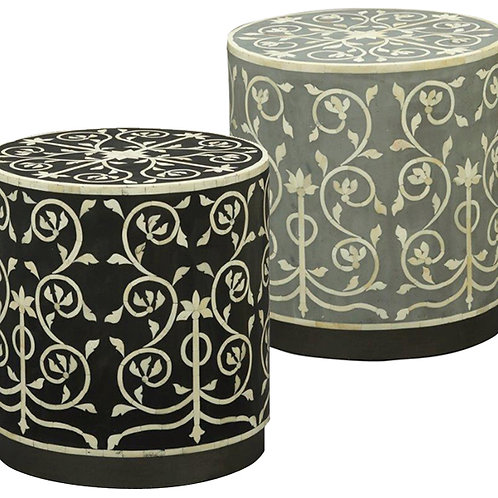 Bone Inlay Side Table – 2 Colour Options