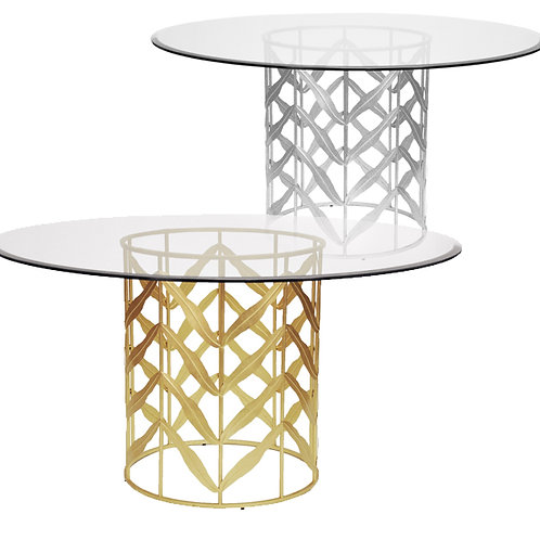 Cassidy Table – Silver or Gold Leaf