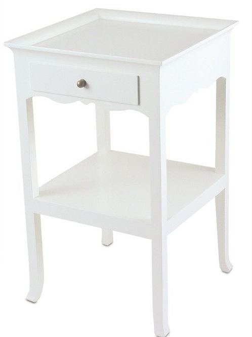 Chatres Bedside – Ivory or Timber