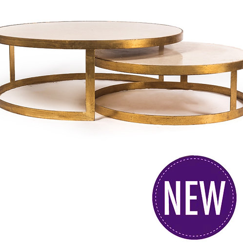 Gold and Marble Set of 2 Tables