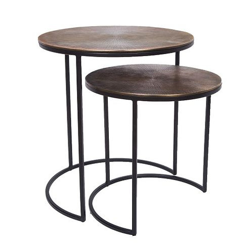 Set of 2 Tables – Brass or Copper