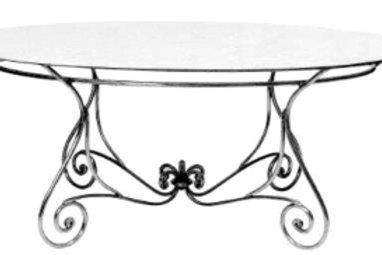 Parisian Dining Table Oval Base