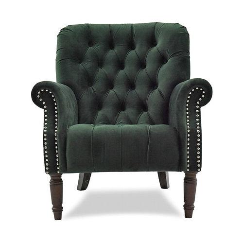 Forest Velvet Armchair