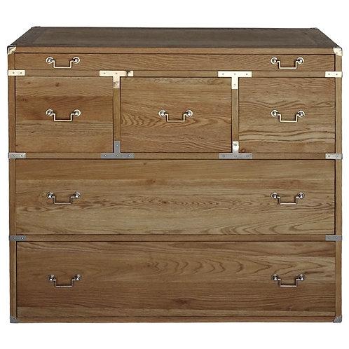 Weathered Oak 6 Drawer Cabinet