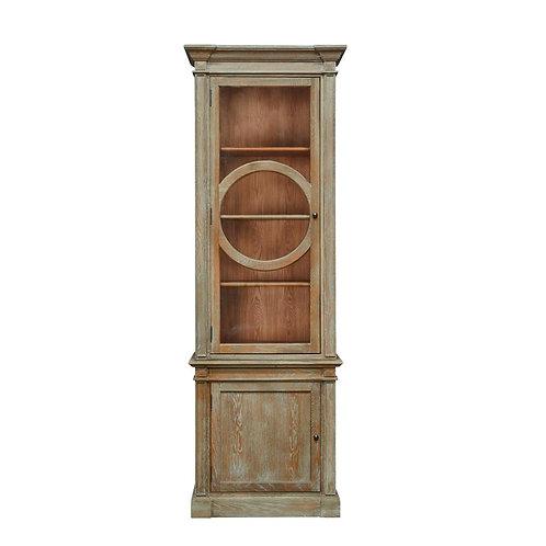 American Oak Glass Cabinet
