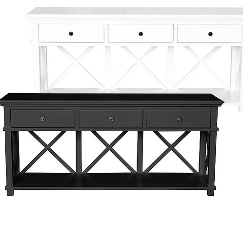 Virginia 3 Drawer Console – Black or White