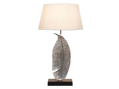 Large Nickel Leaf Lamp