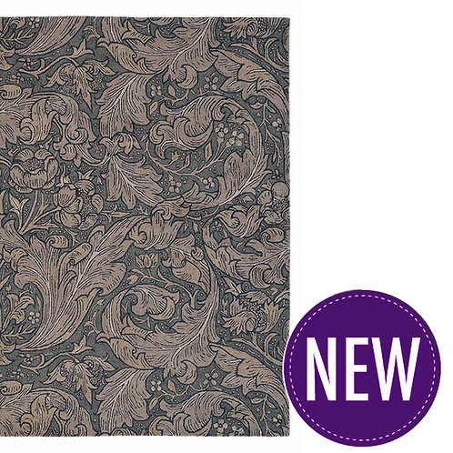 Bachelors Button Charcoal – WIlliam Morris – 2 Sizes