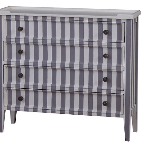 Striped Chest of Drawers