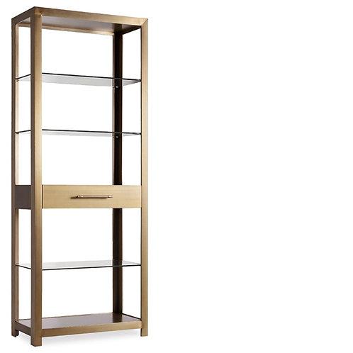 Walker Brushed Metal Bookcase