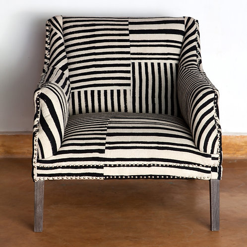 Block Print Studded Armchair