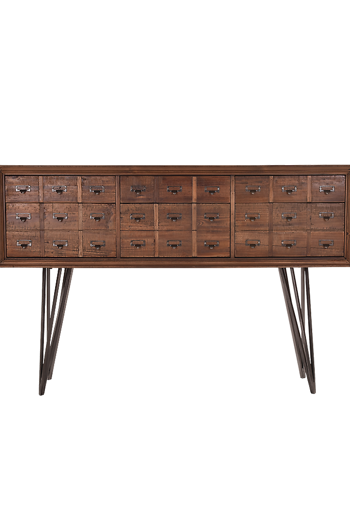 Apothecary Console Table In Reclaimed Timber With Metal Legs. The Apothecary  Console Table Is A Natural Product, So Some Colour Variation Can Occur.