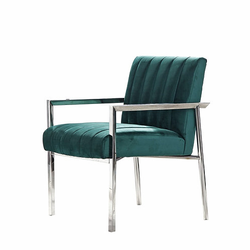 Florence Arm Chair – Silver or Gold Base