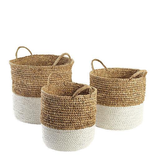 White Clift Basket Set of 3