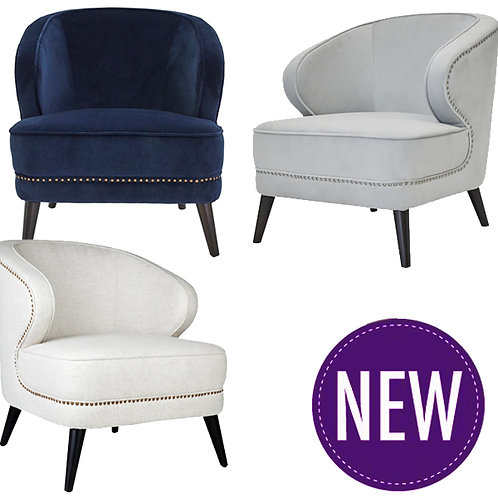 Linden Studded Chair – 3 Colour Options