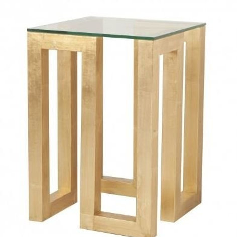 Annette Gold Leaf Table