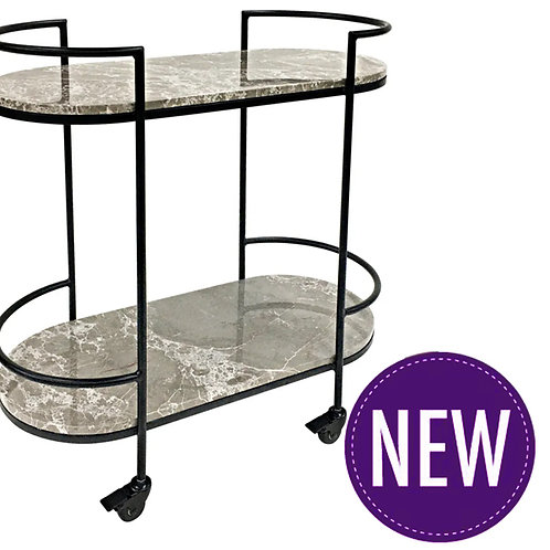Emerson Marble Drinks Trolley