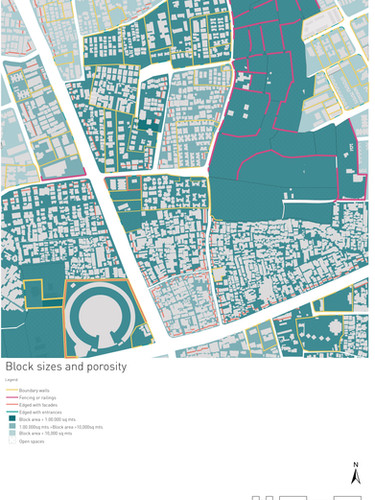 Block Sizes and Porosity