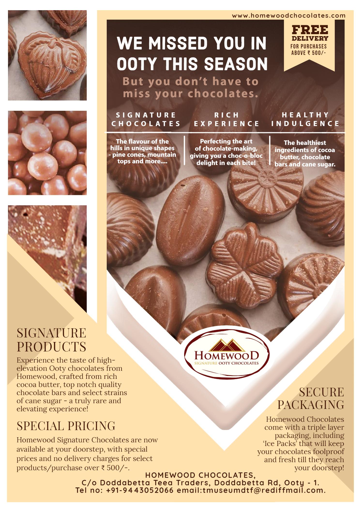 Homewood Chocolates ad