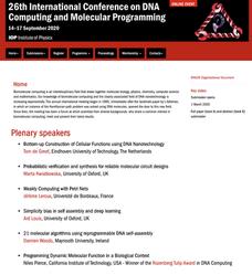 DNA Computing and Molecular Programming 국제학회 (26th) 개최 (2020.09)