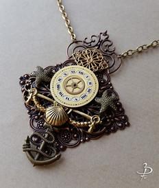 """Collier pendentif """"Marée dorée"""""""