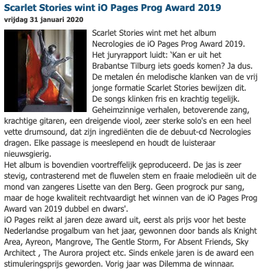 iO Pages Prog Award 2019