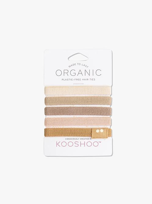 Kooshoo Hair Ties Organic Biodegradable - Blond