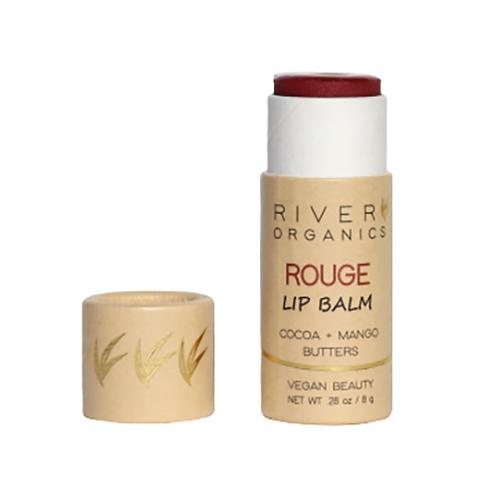 River Organics Vegan Lip Balm - Rouge Color