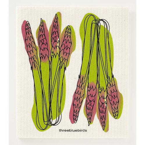 Swedish Dishcloth - Asparagus