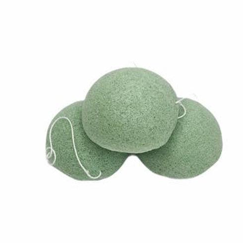 Konjac Cleanse & Exfoliate Facial Sponge - Green Tea