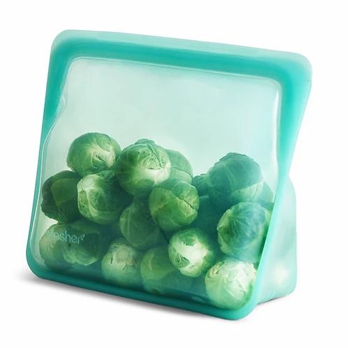 Stasher: Reusable Silicone Stand-Up Mid Bag (Aqua)
