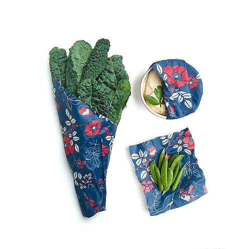 Bee's Wrap - Terra Botanical Print - Pack of 3 (Assorted Sizes)