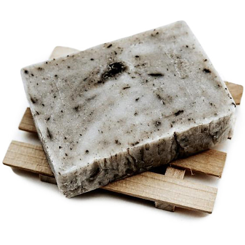 Dead Sea Mud + Tea Tree Soap Bar  4oz - Fresh Sliced off the Loaf