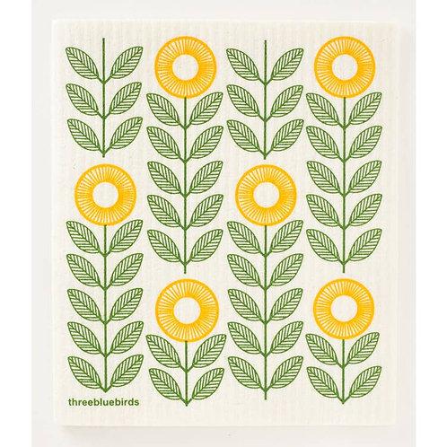 Swedish Dishcloth - Sunflowers