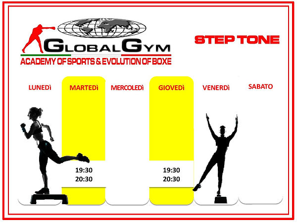step tone palestra fitness global gym