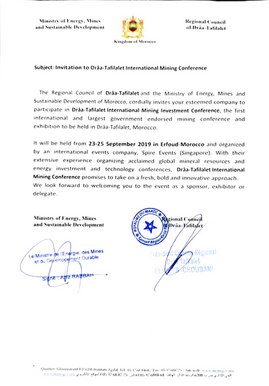 Invitation To Draa-Tafilalt Internationa