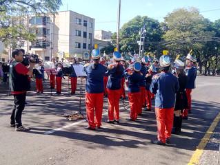 Banda Marcial participa da Homenagem a Tiradentes