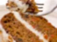 Close up of  creamy sweet walnut carrot