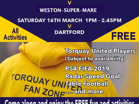 Latest Fan Zone Flyer